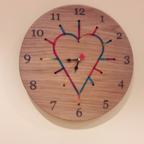 String art clock
